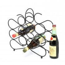 Metal Scroll 12 Bottle Tabletop Wine Rack