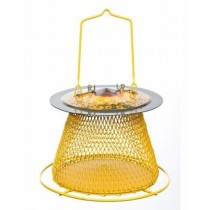 Metal Single Tier Bird Feeder with Perch Ring