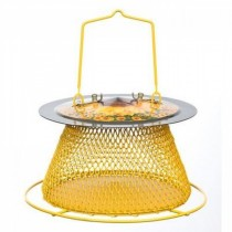 Metal Single Tier With Perch Ring Bird Feeder