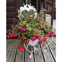 Metal Small Heart Shaped Chair Planter Stand