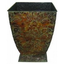 Metal Square With Base 14 Inch Flower Pot