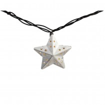 Metal Star Incandescent String Light Set