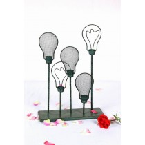 Metal Vintage Green Bulb Shape Candle Holder