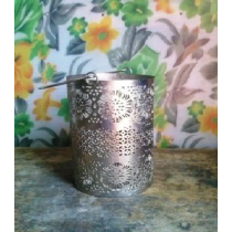 Metal Votive Candle Holder   Size -  10.5x15cms.
