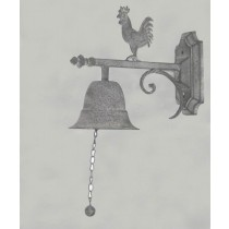 Metal Wall Hook With Bell & Rooster