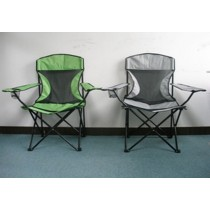 Mixed Color Green & Gray Folding Chair