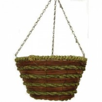 Mixed Rope Bucket Planter with Chain