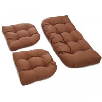 Mocha Brown Color 3 Piece U Shaped Cushion Set