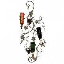 Modern 3 Bottle Wall Mounted Wine Rack