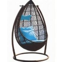 Modern Coffee Garden Rattan Vertical Swing(Single Seater)