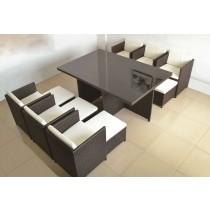 Modern Design  PE Rattan Dinning Set