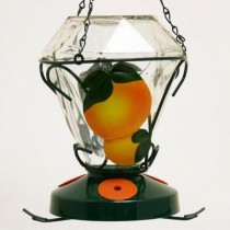 Modern Hand Painted Hanging Glass Bird Feeder