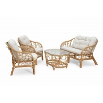 Modern Natural Wicker Sofa Set