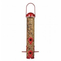 Modern Plastic Red Color Finish Hanging Bird Feeder