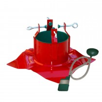 Modern Red Powder Coated Steel Christmas Tree Stand