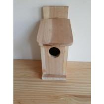 Modern Shape Fir Wood Bird House