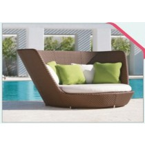 Modern Style Outdoor Pool Side Rattan Lounger