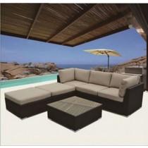 Modular Design PE Rattan Corner Sofa Set