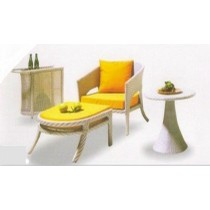 Modular Rattan Chair ,Table ,Side Table & Trolley Dinning Set