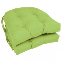 Mojito Lime Color 16 Inch U Shaped Cushion With Ties