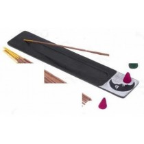 Rectangular Black Incense Burner