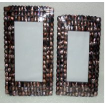 Mosaic design Photo Frame (coloured mother of Pearl)3 X 3""