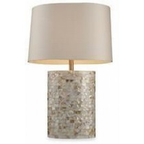Mother Of Pearl Round Table Lamp