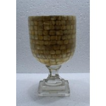 Mother Of  Pearls Large Size Candle Holder(15 X 40 cm )
