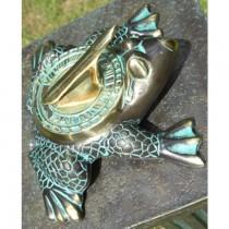 Mounted Frog Shape Brass Garden Sundial
