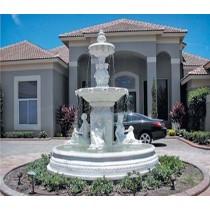 MS White Marble Center Fountain