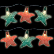 Multi-Color Starfish String Lights Set