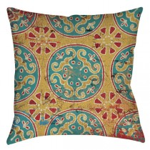 Multi Color 16 Inch Square Cushion