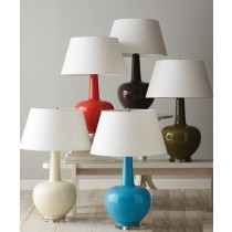 Multi Color Aluminum Drum Shaped Table Lamp