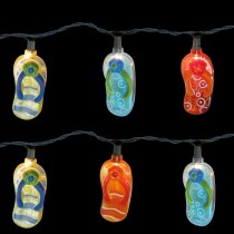Multi Color Beach Sandals String Lights Set