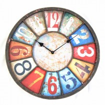 Multi color Metal Wall Round Clock