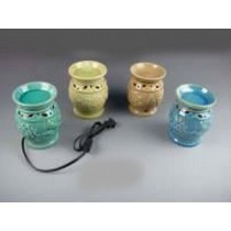 Multi Colored Ceramic Electric Wax Warmer With line Oil Burner(Set Of 4)