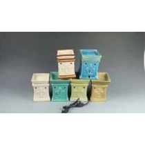 Multi Colored Square Ceramic Electric Wax Warmer Oil Burner(Set Of 6)