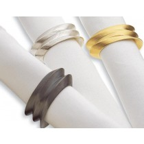 Multi Finish Metal Brass Napkin Ring Set