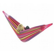 Multi Rainbow Color Cotton Double Hammock