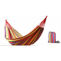 Multi Rainbow Colors Cotton Single Hammock
