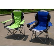 Multicolored 2  Padded Camp Chair