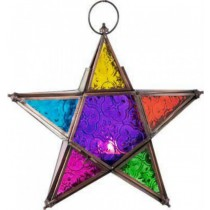 Multicolored Copper Antique Hanging Star