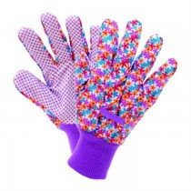 Multicolored Floral Medium Cotton Gloves
