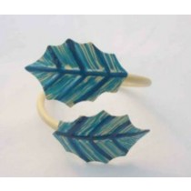 Multicolored  Napkin Ring leaf design