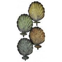 Multicolored Shell Design Metal Wall Scone
