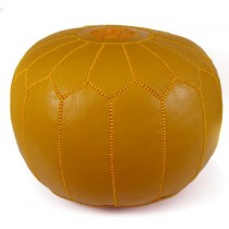 Mustard Yellow Round Floor Pouf