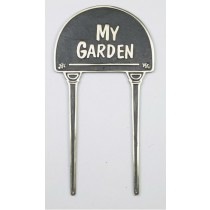 My Garden Black Solid Brass Garden Tag