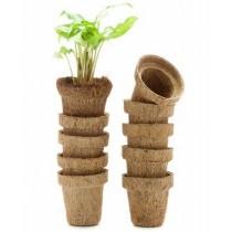 "Natural Brown 3"" Coir Pots"