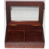 "Natural Card Box, 6"" X 4"" X 1.5"""