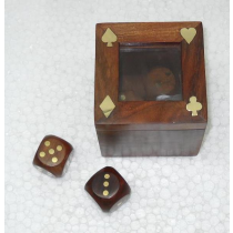 Natural Dice Box, 2.5 Inches